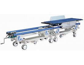 Connecting stretcher trolley